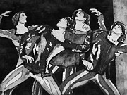 Ballet Dancers Art - Men in Tights by Colleen Kammerer
