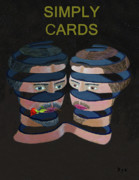 Simply Cards Prints - Men Lovers Print by Eric Kempson