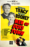 Spencer Photo Prints - Men Of Boys Town, Spencer Tracy, Mickey Print by Everett