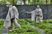 Korean War Memorial Photos - Men of Honor by John Cristian Esquivel