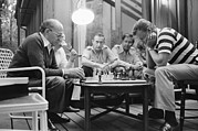 Chess Framed Prints - Menahem Begin And Zbigniew Brzezinski Framed Print by Everett