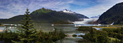 Alaska Prints Photos - Mendenhall glacier by James Heckt