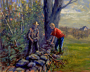 Stonewall Painting Originals - Mending Wall by Ken Fiery