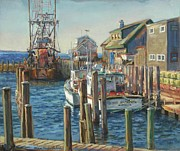 Harrison Painting Originals - Menemsha Dock by Sharon Jordan Bahosh