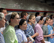 Mennonite Photos - Mennonite Chorus  Union Square Station NYC 5 21 11 1 by Robert Ullmann