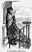 Smoker Framed Prints - Mennonite Woman, 1877 Framed Print by Granger