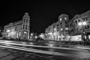 Wauwatosa Framed Prints - Menomonee and Underwood at Night Framed Print by CJ Schmit