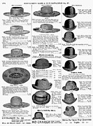 Montgomery Prints - Mens Hats, 1895 Print by Granger