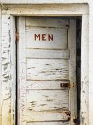 Peeling Paint Posters - Mens Room Poster by Marilyn Hunt