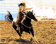 Cowboy Photos Prints - Mens Shooting events Print by Cheryl Poland