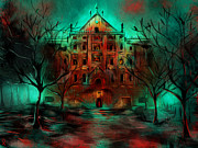 Horror Digital Art - Mental Hospital by Patricia C Bernhard
