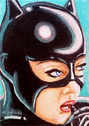 Latex Prints - Meow Print by Al  Molina