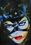 Actors Mixed Media - Meow Catwoman by Brad Jensen
