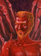 Goethe Paintings - Mephistopheles by Thomas J Nixon