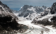 Snowy Prints - Mer de Glace - Mont Blanc Glacier Print by Frank Tschakert