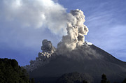 Merapi Eruption, Java Island, Indonesia Print by Martin Rietze