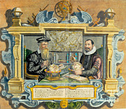 Mercator And Hondius Print by Science Source