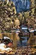 Reflective Water Photos - Merced River by Bonnie Bruno