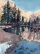 Yosemite Painting Originals - Merced River in January by Donald Maier