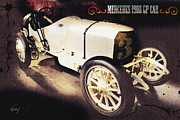 Indy Car Prints - Mercedes 1908 Grand Prix ANTIQUED  Print by Curt Johnson