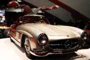 Transportation Prints - Mercedes 300SL Gullwing . Front Angle Print by Wingsdomain Art and Photography