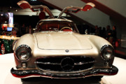 Gullwing Framed Prints - Mercedes 300SL Gullwing . Front View Framed Print by Wingsdomain Art and Photography
