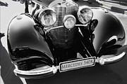 Kirkland Prints - Mercedes 540K in Black and White Print by Curt Johnson