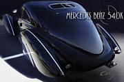 Kirkland Prints - MERCEDES 540K Kourier Coupe  Print by Curt Johnson