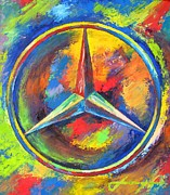 Transportation Mixed Media Metal Prints - MERCEDES BENZ - The BEST or NOTHING Metal Print by Dan Haraga