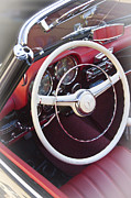 Antique Automobiles Photos - Mercedes Benz 190 SL 1960 Steering Wheel by Heiko Koehrer-Wagner
