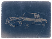 Mercedes Benz 300 Sl Classic Car Prints - Mercedes Benz 300 SL Print by Irina  March