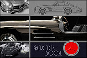 Kirkland Prints - Mercedes Benz 300SL Layout Print by Curt Johnson