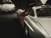 Kirkland Posters - Mercedes Benz 300SL Night Life Poster by Curt Johnson