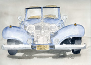 Classic Car Drawings - Mercedes Benz by Eva Ason