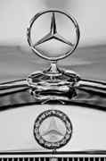 Car Detail Prints - Mercedes Benz Hood Ornament 2 Print by Jill Reger