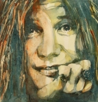 Janis Joplin Posters - Mercedes Benz Poster by Paul Lovering