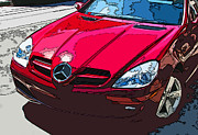 Samuel Sheats Metal Prints - Mercedes Benz SLK Nose Study Metal Print by Samuel Sheats