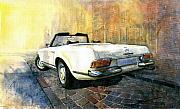 Mercedes Paintings - Mercedes Benz W113 280 SL Pagoda by Yuriy  Shevchuk