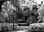 Savannah Infrared Photography Framed Prints - Mercer Williams House Framed Print by Jeff Holbrook