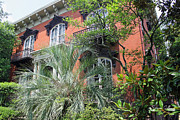 Lowcountry Prints - Mercer Williams House-Savannah GA Print by Suzanne Gaff