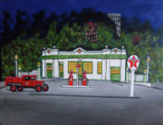 Service Station Paintings - Merch Texaco Mansfield by Gordon Wendling