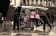 Merchants In Venice 1 Print by Design Remix