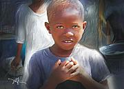 Haiti Metal Prints - Merci  Thank You Metal Print by Bob Salo