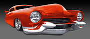Orange Car Art - Mercury Low Rider by Mike McGlothlen