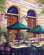 Sidewalk Paintings - Merida Cafe by Candy Mayer