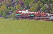 Hardball Squash Prints - Merion Cricket Club Cricket Festival Clubhouse Print by Duncan Pearson