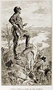 Purchase Posters - Meriwether Lewis Taking In His First Poster by Everett