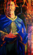 Camelot Painting Prints - Merlin Print by David Matthews