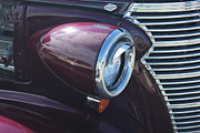 Merlot Framed Prints - Merlot Classic Car Framed Print by Donna Munro