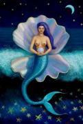 Mermaids Pastels - Mermaid Art- Mermaids Pearl by Sue Halstenberg